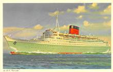 shp011167 - White Star Line Cunard Ship Post Card, Old Vintage Antique Postcard