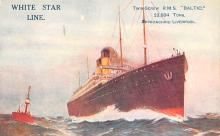 shp011171 - White Star Line Cunard Ship Post Card, Old Vintage Antique Postcard
