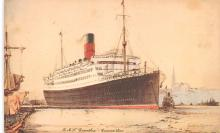 shp011179 - White Star Line Cunard Ship Post Card, Old Vintage Antique Postcard