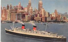 shp011183 - White Star Line Cunard Ship Post Card, Old Vintage Antique Postcard
