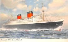 shp011185 - White Star Line Cunard Ship Post Card, Old Vintage Antique Postcard