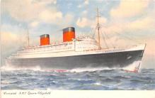 shp011191 - White Star Line Cunard Ship Post Card, Old Vintage Antique Postcard