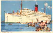 shp011197 - White Star Line Cunard Ship Post Card, Old Vintage Antique Postcard