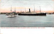 shp011199 - White Star Line Cunard Ship Post Card, Old Vintage Antique Postcard
