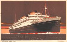 shp011201 - White Star Line Cunard Ship Post Card, Old Vintage Antique Postcard