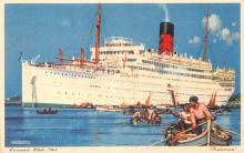 shp011203 - White Star Line Cunard Ship Post Card, Old Vintage Antique Postcard