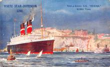 shp011205 - White Star Line Cunard Ship Post Card, Old Vintage Antique Postcard