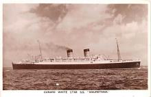 shp011207 - White Star Line Cunard Ship Post Card, Old Vintage Antique Postcard