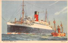 shp011215 - White Star Line Cunard Ship Post Card, Old Vintage Antique Postcard