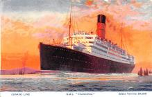 shp011223 - White Star Line Cunard Ship Post Card, Old Vintage Antique Postcard