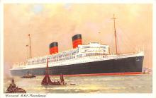 shp011227 - White Star Line Cunard Ship Post Card, Old Vintage Antique Postcard
