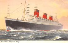shp011229 - White Star Line Cunard Ship Post Card, Old Vintage Antique Postcard