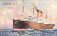 shp011233 - White Star Line Cunard Ship Post Card, Old Vintage Antique Postcard