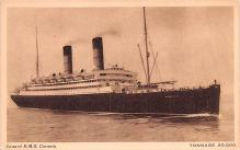 shp011235 - White Star Line Cunard Ship Post Card, Old Vintage Antique Postcard