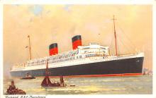 shp011243 - White Star Line Cunard Ship Post Card, Old Vintage Antique Postcard