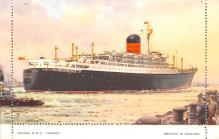 shp011245 - White Star Line Cunard Ship Post Card, Old Vintage Antique Postcard
