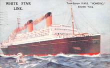 shp011249 - White Star Line Cunard Ship Post Card, Old Vintage Antique Postcard