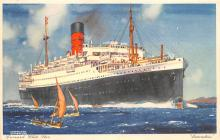 shp011257 - White Star Line Cunard Ship Post Card, Old Vintage Antique Postcard