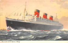 shp011259 - White Star Line Cunard Ship Post Card, Old Vintage Antique Postcard