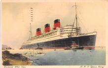 shp011269 - White Star Line Cunard Ship Post Card, Old Vintage Antique Postcard