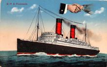 shp011273 - White Star Line Cunard Ship Post Card, Old Vintage Antique Postcard