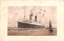 shp011277 - White Star Line Cunard Ship Post Card, Old Vintage Antique Postcard