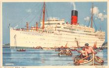 shp011281 - White Star Line Cunard Ship Post Card, Old Vintage Antique Postcard