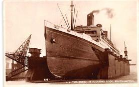 shp011285 - White Star Line Cunard Ship Post Card, Old Vintage Antique Postcard