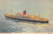 shp011287 - White Star Line Cunard Ship Post Card, Old Vintage Antique Postcard