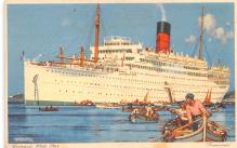 shp011289 - White Star Line Cunard Ship Post Card, Old Vintage Antique Postcard