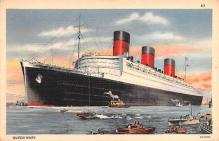 shp011295 - White Star Line Cunard Ship Post Card, Old Vintage Antique Postcard