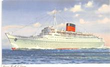 shp011297 - White Star Line Cunard Ship Post Card, Old Vintage Antique Postcard