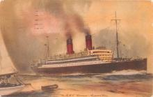 shp011299 - White Star Line Cunard Ship Post Card, Old Vintage Antique Postcard