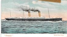 shp011307 - White Star Line Cunard Ship Post Card, Old Vintage Antique Postcard