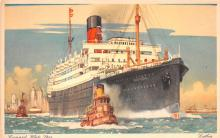 shp011309 - White Star Line Cunard Ship Post Card, Old Vintage Antique Postcard