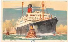 shp011311 - White Star Line Cunard Ship Post Card, Old Vintage Antique Postcard