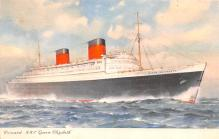 shp011313 - White Star Line Cunard Ship Post Card, Old Vintage Antique Postcard