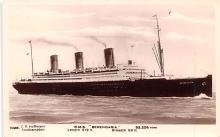 shp011323 - White Star Line Cunard Ship Post Card, Old Vintage Antique Postcard