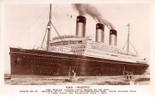 shp011329 - White Star Line Cunard Ship Post Card, Old Vintage Antique Postcard