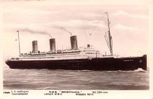 shp011335 - White Star Line Cunard Ship Post Card, Old Vintage Antique Postcard