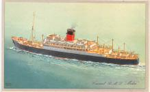 shp011343 - White Star Line Cunard Ship Post Card, Old Vintage Antique Postcard