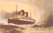 shp011345 - White Star Line Cunard Ship Post Card, Old Vintage Antique Postcard