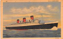 shp011349 - White Star Line Cunard Ship Post Card, Old Vintage Antique Postcard
