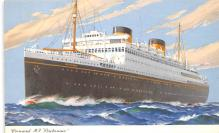 shp011351 - White Star Line Cunard Ship Post Card, Old Vintage Antique Postcard