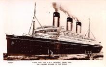 shp011355 - White Star Line Cunard Ship Post Card, Old Vintage Antique Postcard