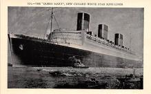 shp011361 - White Star Line Cunard Ship Post Card, Old Vintage Antique Postcard