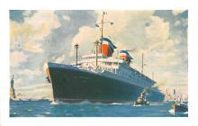 shp011363 - White Star Line Cunard Ship Post Card, Old Vintage Antique Postcard