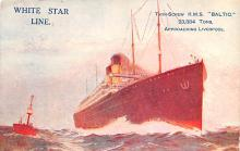 shp011367 - White Star Line Cunard Ship Post Card, Old Vintage Antique Postcard