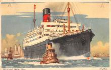 shp011369 - White Star Line Cunard Ship Post Card, Old Vintage Antique Postcard