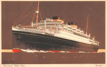 shp011377 - White Star Line Cunard Ship Post Card, Old Vintage Antique Postcard